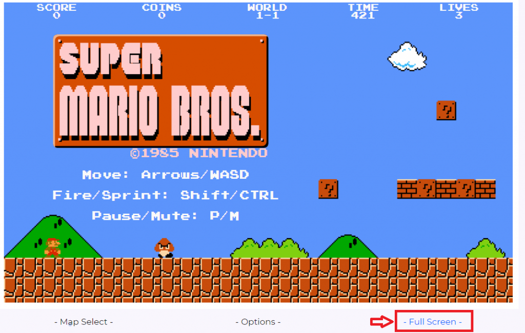 Gameplay of the Mario Game